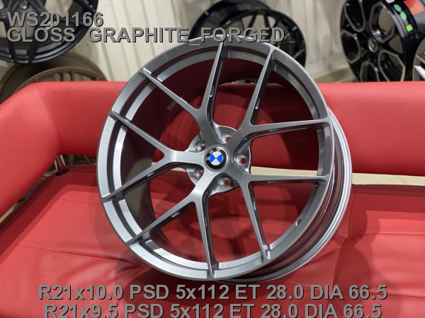 Кованые диски BMW X4 M Competition R21 разноширокие - Фото 3