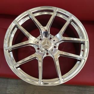 Кованые диски Mercedes G Гелик Хром Кубик AMG R21