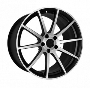 Vissol Forged F-190 MATTE-BLACK-WITH-MACHINED-FACE MATTE-BLACK-WITH-MACHINED-FACE
