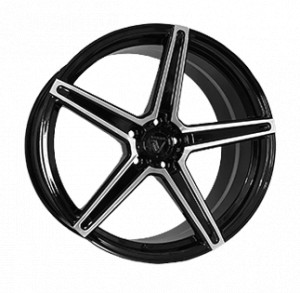 Vissol Forged F-505 GLOSS-BLACK-WITH-MACHINED-FACE GLOSS-BLACK-WITH-MACHINED-FACE