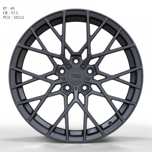 WS FORGED WS1244 MATTE_GUNMETALL_FORGED MATTE_GUNMETALL_FORGED