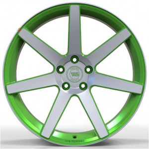 WS FORGED WS1245 MATTE_GREEN_WITH_MACHINED_FACE_FORGED MATTE_GREEN_WITH_MACHINED_FACE_FORGED