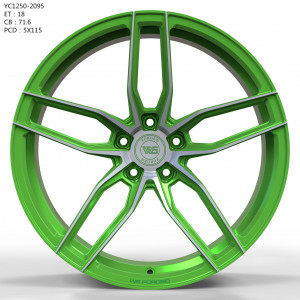 WS FORGED WS1250 MATTE_GREEN_WITH_MACHINED_FACE_FORGED MATTE_GREEN_WITH_MACHINED_FACE_FORGED