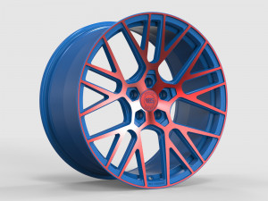 WS FORGED WS2106 MATTE_BLUE(inside)_WITH_RED(outside)_FACE_FORGED MATTE_BLUE(inside)_WITH_RED(outside)_FACE_FORGED