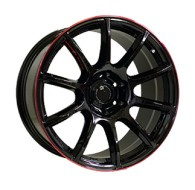 Off Road Wheels OW1012 GLOSSY_BLACK_RED_LINE_RIVA_RED