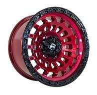 Off Road Wheels OW1025 RED_BLACK_LIP_BLACK_RIVETS