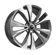 Replica FORGED LR2225 GLOSS-GRAPHITE-WITH-MACHINED-FACE_FORGED